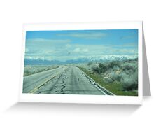 Lonely Desert Road Greeting Card
