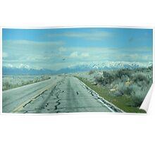 Lonely Desert Road Poster