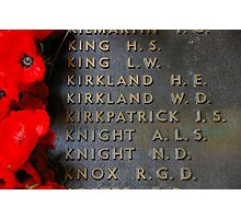 The Most Famous Anzac Of All Photographic Print