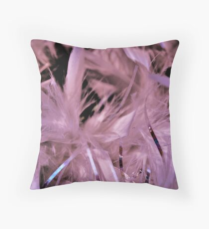 Feather bower Throw Pillow