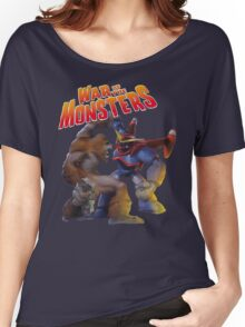 War of the Monsters Cover Art Women's Relaxed Fit T-Shirt
