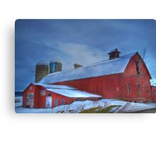 A Cold Snowy  Day Canvas Print