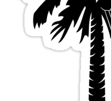 Black Carolina Girl Palmetto Moon Sticker