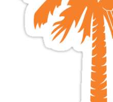Orange Carolina Girl Palmetto Moon Sticker