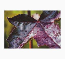 Purple Leaf with Water Droplets Baby Tee