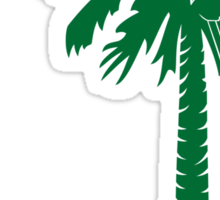 Green Carolina Girl Palmetto Moon Sticker