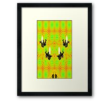 Alien Bees, Honeycomb, and Flower (made from fractals Framed Print