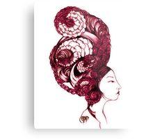Asian Girls-Aurelia -Garnet Metal Print
