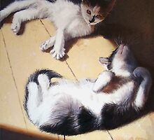 Two cats in the sun (Lenny & Lucy) by Franko Camue