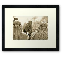 Finding Peace in the Chaos Framed Print