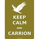 keep calm and carrion vulture by olivehue