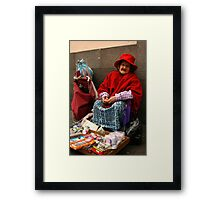 People 4051 Quito, Ecuador Framed Print
