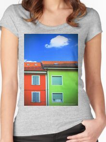 Colored walls and a cloud Women's Fitted Scoop T-Shirt