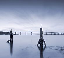 Cool Blue: Kessock Bridge, Inverness by PigleT