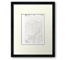 USGS Topo Map Oregon Nye 20110811 TM Framed Print