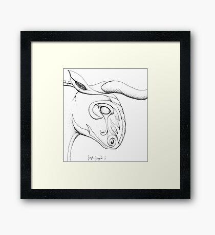 Stony Bull Framed Print