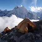 Imja Tse High Camp by mike irvine