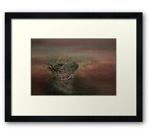 Divot in a Piece of Wood Framed Print