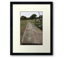 Bench on a Baseball Field Framed Print