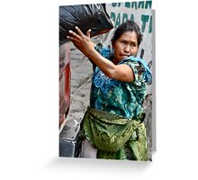 She carries a heavy load... Greeting Card