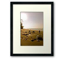 Remote beach Framed Print