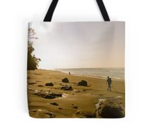 Remote beach Tote Bag