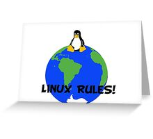 Linux Rules! Greeting Card