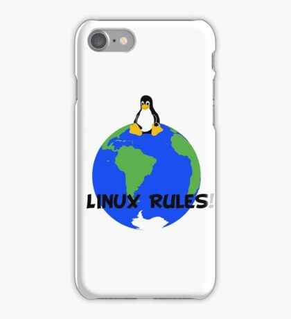 Linux Rules! iPhone Case/Skin