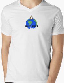 Linux Rules! Mens V-Neck T-Shirt