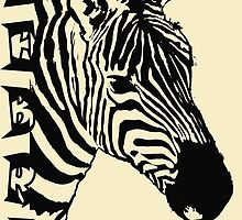 Zebra, Safari Art by Sandy O'Toole