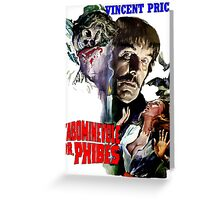 Abominable Dr. Phibes - Vincent Price 1971 Greeting Card
