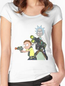 Badass rick and morty Women's Fitted Scoop T-Shirt