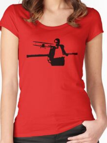 On the Run! Women's Fitted Scoop T-Shirt