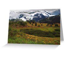 Summer in San Juan Mountains Greeting Card