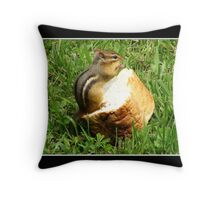 Chipmunk saying grace before a meal Throw Pillow