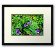 HIS  MERCY Framed Print