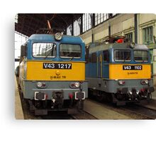 Hungarian Trains Canvas Print