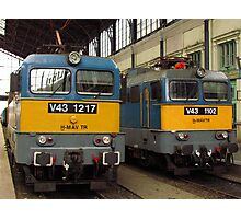 Hungarian Trains Photographic Print