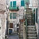Streets of Sgurgola Italy by Warren. A. Williams
