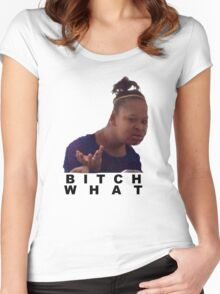 confused black girl meme  Women's Fitted Scoop T-Shirt