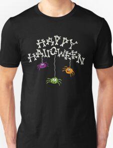 Happy Halloween Bones and Spiders Unisex T-Shirt