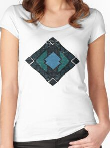 Enchanting Abstract Colors and Shapes Women's Fitted Scoop T-Shirt