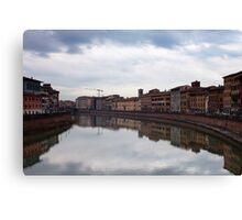 Quay in Pisa Canvas Print