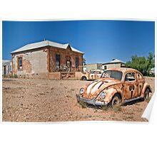 Vegemite Car, Peter Browne Gallery, Silverton, NSW. Poster