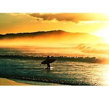 Sunrise surf. Photographic Print