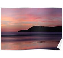 sunset silhouetted Poster