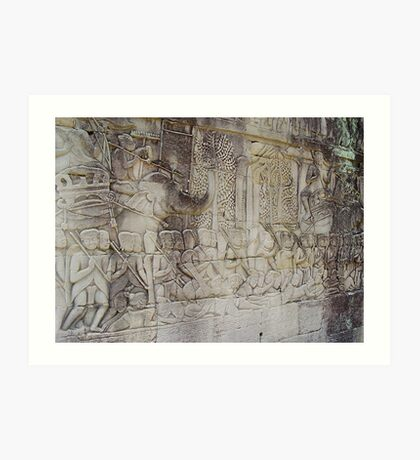 Cambodia. Angkor Wat , Siem Reap 36 Art Print