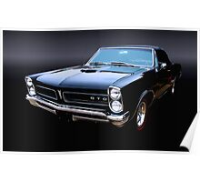 1967 Pontiac GTO Black on Black Poster