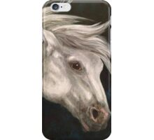Pale Grey Horse iPhone Case/Skin