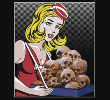 cigarette girl - skulls by Bonnie Aungle